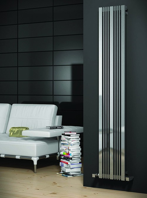 Additional image for Karia Vertical Radiator (Satin Stainless Steel). 300x1800.