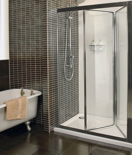 Additional image for Bi-Fold Shower Door (760mm, Silver). C2V7613S.