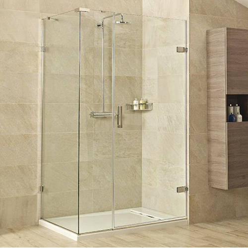 Additional image for Shower Enclosure With Hinged Door (1200x900, Chrome).