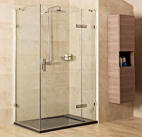 Additional image for Shower Enclosure With Hinged Door (1000x1000mm, Chrome).