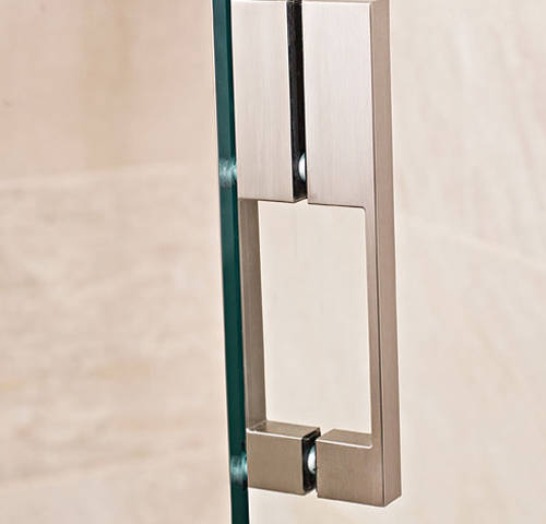 Additional image for Frameless Shower Enclosure With Hinged Door (760x900mm).