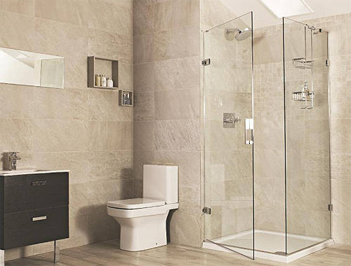 Square Shower Enclosure With Hinged Door 900x900mm