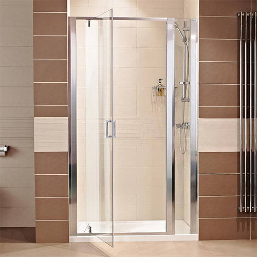 Additional image for 760 Pivot Shower Door With 300 In-Line Panel (1060mm).