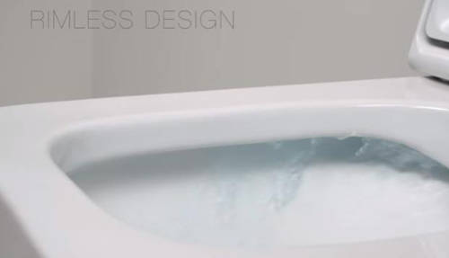 Additional image for Nexo Wall Hung Rimless Toilet Pan & Seat.