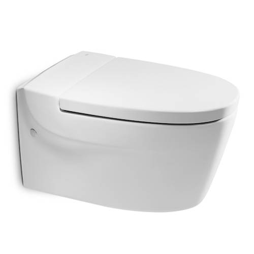 Additional image for Khroma Wall Hung Toilet Pan & White Seat.