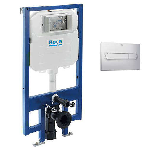 Additional image for In-Wall DUPLO Compact Tank & PL1 Dual Flush Panel (Grey).