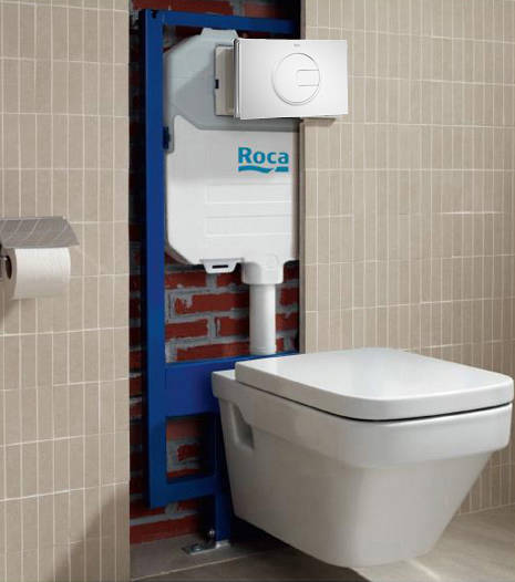 Additional image for Basin & WC Frame With PL4 Dual Flush Panel (White).
