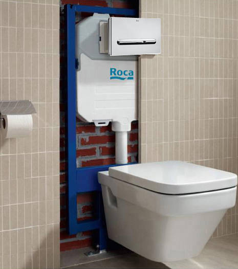 Additional image for Basin & WC Frame With PL5 Dual Flush Panel (Chrome).