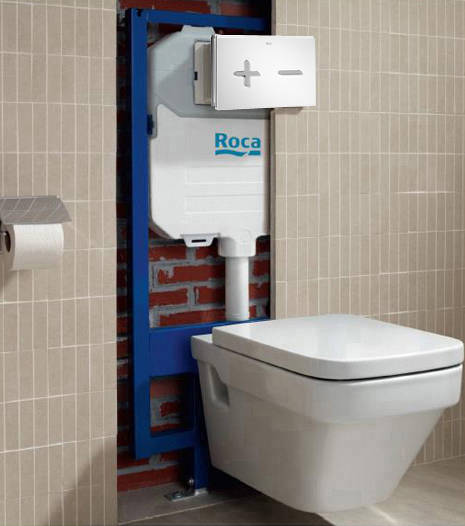 Additional image for In-Wall DUPLO Compact Tank & PL6 Dual Flush Panel (Combi).