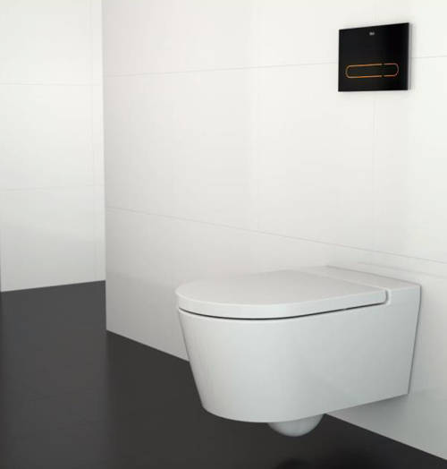 Additional image for In Wall Frame, Dual Cistern & EP1 Electronic Panel (Black).