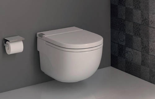Additional image for In-Wall WC Compact Tank & PL5 Dual Flush Panel (White).