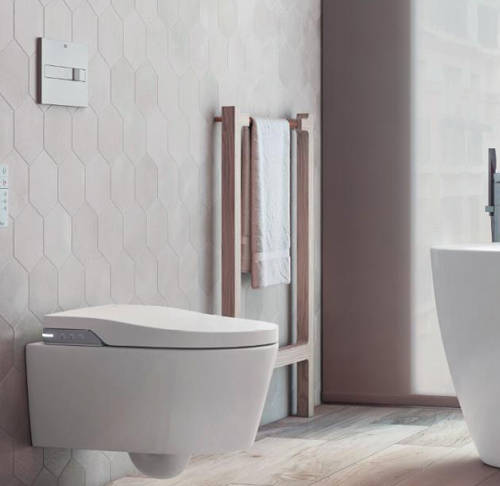 Additional image for In-Wall WC Compact Tank & PL6 Dual Flush Panel (Grey).