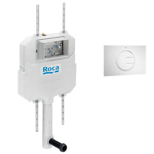 Additional image for In-Wall Basic Compact Tank & PL4 Dual Flush Panel (White).
