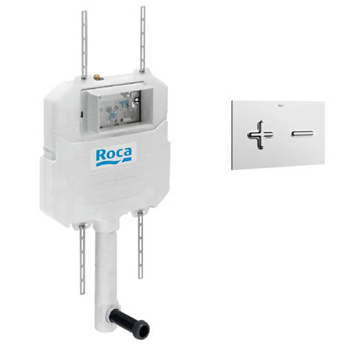 Additional image for In-Wall Basic Compact Tank & PL6 Dual Flush Panel (Chrome).