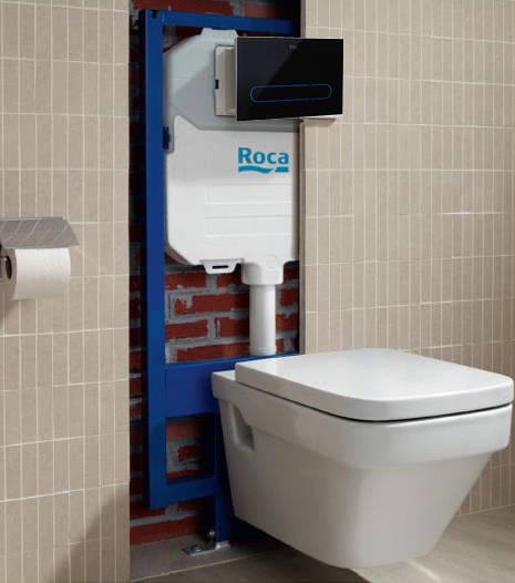 Additional image for PRO WC Frame, Dual Cistern & EP1 Electronic Panel (Black).