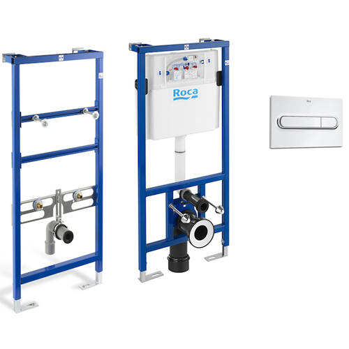 Additional image for Basin & WC Frame With PL1 Dual Flush Panel (Chrome).