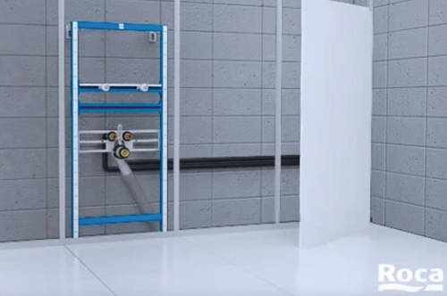 Additional image for Basin & WC Frame With PL2 Dual Flush Panel (Grey).