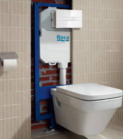 Additional image for DUPLO WC Wall Hung Frame & PL2 Dual Flush Panel (White).