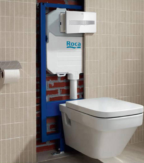 Additional image for Basin & WC Frame With PL2 Dual Flush Panel (Combi).