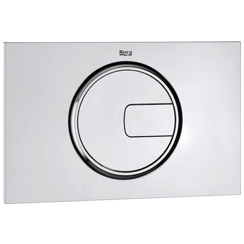 Additional image for DUPLO WC Wall Hung Frame & PL4 Dual Flush Panel (Chrome).