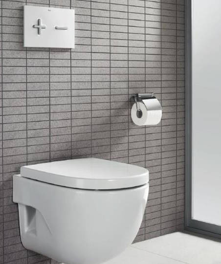 Additional image for DUPLO WC Wall Hung Frame & PL6 Dual Flush Panel (Grey).