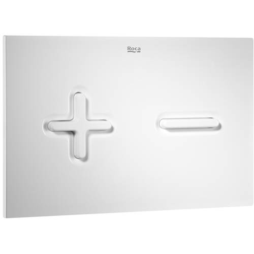 Additional image for DUPLO WC Wall Hung Frame & PL6 Dual Flush Panel (White).