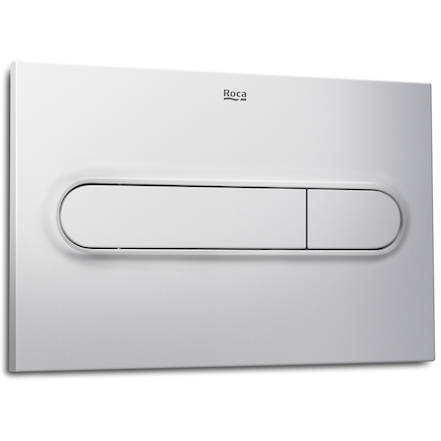Additional image for DUPLO LH Wall Hung Frame & PL1 Dual Flush Panel (Grey).