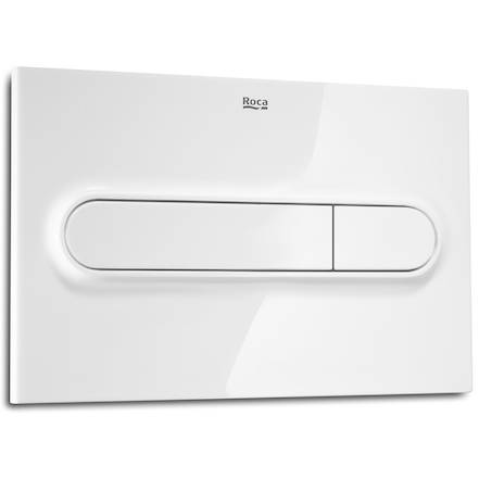 Additional image for DUPLO LH Wall Hung Frame & PL1 Dual Flush Panel (White).