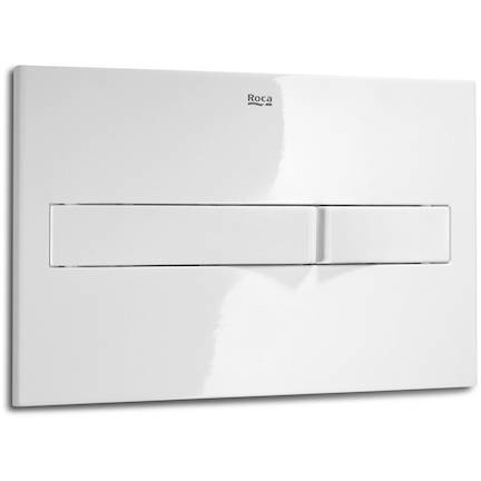 Additional image for DUPLO LH Wall Hung Frame & PL2 Dual Flush Panel (White).