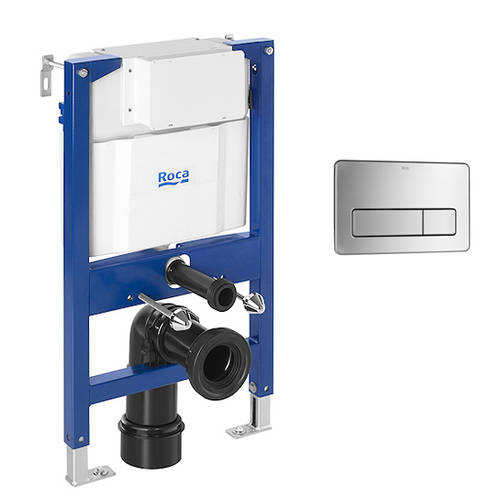 Additional image for DUPLO LH Wall Hung Frame & PL3 Anti Vandal Panel (S Steel).