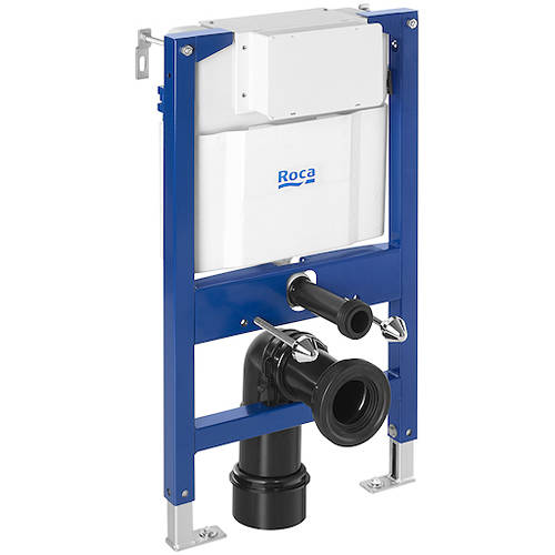 Additional image for DUPLO LH Wall Hung Frame & PL5 Dual Flush Panel (Chrome).