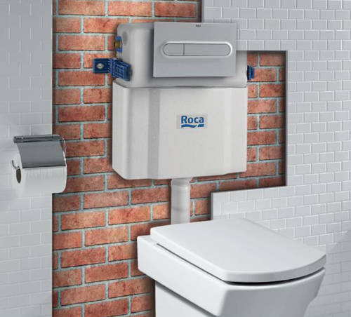 Additional image for Low Height Concealed Cistern & PL1 Dual Flush Panel (Combi).