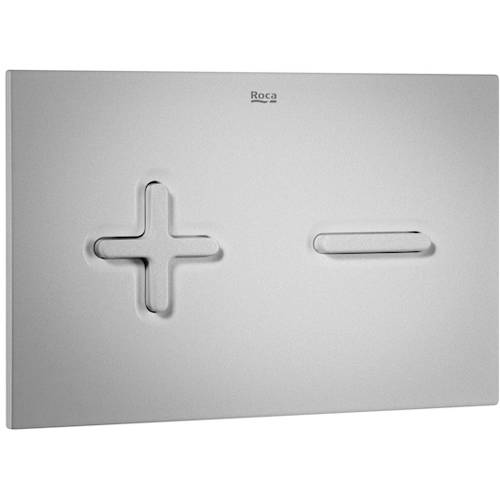 Additional image for Low Height Concealed Cistern & PL6 Dual Flush Panel (Grey).