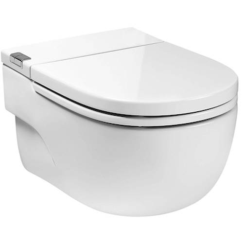 "Additional image for Wall Hung Pan With Integrated Cistern & Seat (Solid Wall ""I"" Type)."