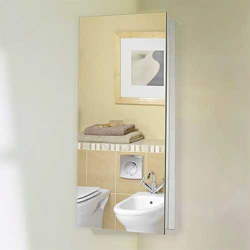 Additional image for Corner Mirror Bathroom Cabinet. 300x600x190mm.