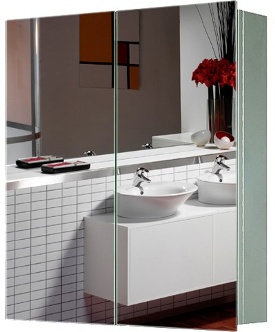 Additional image for 2 Door Mirror Bathroom Cabinet. 600x670x130mm.