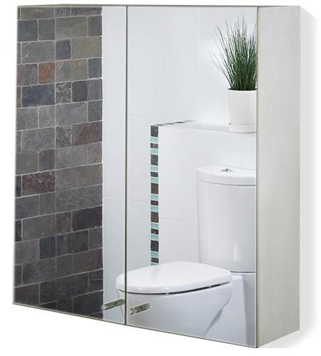 Additional image for 2 Door Mirror Bathroom Cabinet. 600x670x120mm.