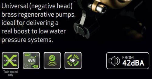 Additional image for CTFORCE 15TU Twin Shower Pump (Universal. 1.5 Bar).