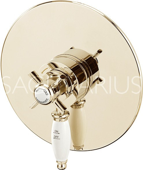 Additional image for Churchmans Concealed Thermostatic Shower Valve (Gold).