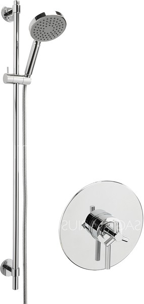 Additional image for Zone Concealed Shower Valve With Slide Rail Kit (Chrome).