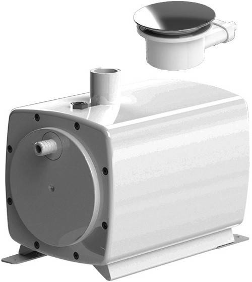 Additional image for Sanifloor 3 Wetroom Shower Pump With Round Gully.