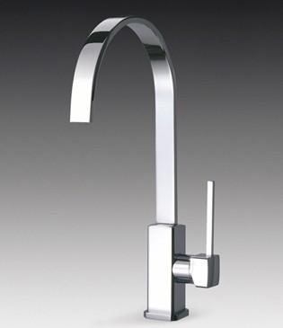 Imola Single Lever Kitchen Tap With Water Saving Valve Smeg Taps Sm