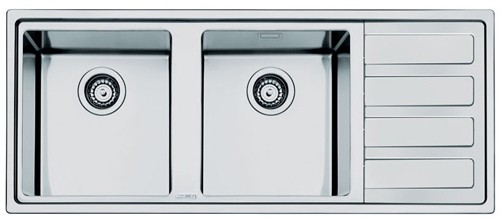 Additional image for Mira 2.0 Double Bowl Sink With Right Hand Drainer (S Steel).