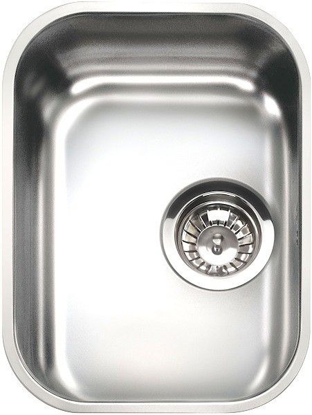 Additional image for 1.0 Bowl Oval Stainless Steel Undermount Kitchen Sink. 300mm.