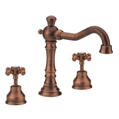 Additional image for 3 Hole Bath Filler Tap (Copper).