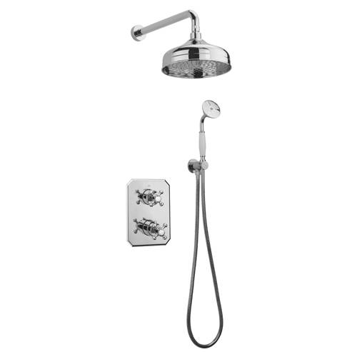 Additional image for Thermostatic Shower Kit With Diverter (Chrome).