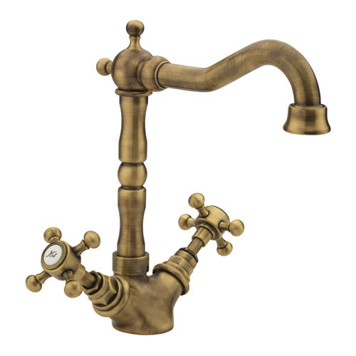 Additional image for Basin Mixer Tap & Waste (Bronze).