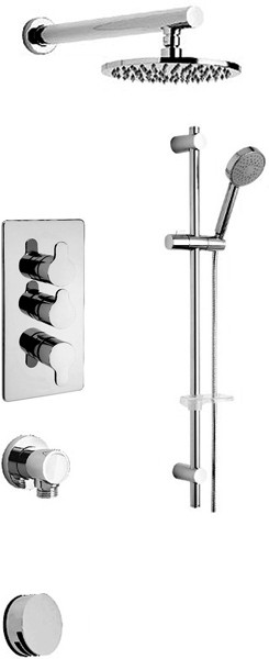 Additional image for Thermostatic 3 Way Shower Set (Chrome).