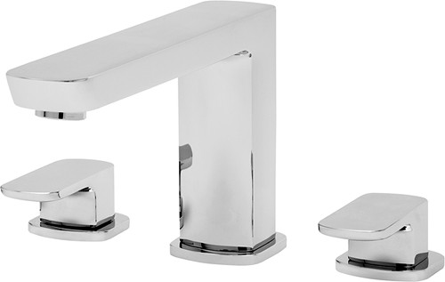 Additional image for 3 Tap Hole Bath Filler Tap (Chrome).