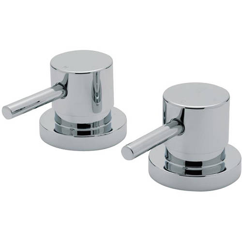 "Additional image for 3/4"" Side Valves (Pair, Chrome)."